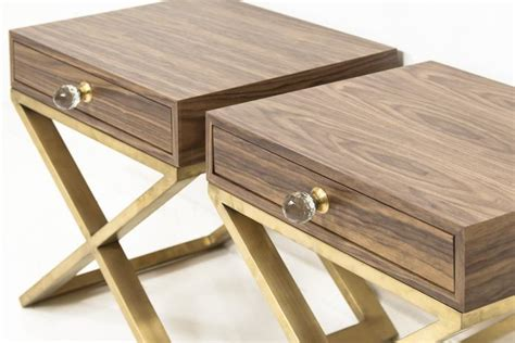 X Leg Side Table Www Roomservicestore Boca Brass X Leg Walnut Side Table