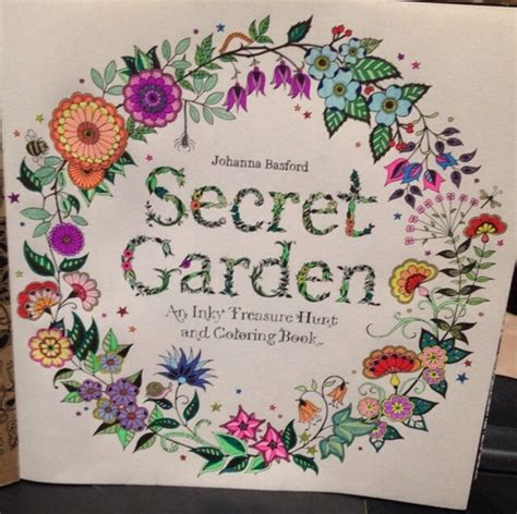 colouring book the secret garden secret garden an inky treasure hunt and coloring book