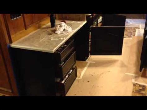 Kitchen Cabinet Gel Stain by Gel Stain Glazing Kitchen Cabinet Dark Walnut Youtube