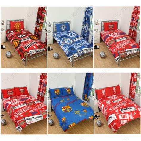 liverpool bedroom stuff football team single double doona cover sets arsenal man u liverpool more ebay