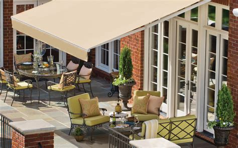 sunbrella retractable awning courtyard shade delta tent awning company