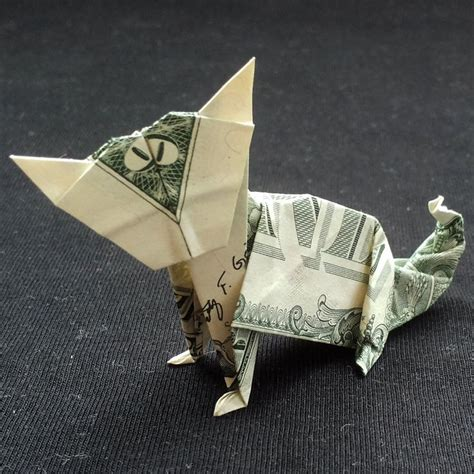 Dollar Origami Cat - money origami cat real one dollar bill by