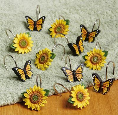 sunflower shower curtain hooks collections etc find unique online gifts at