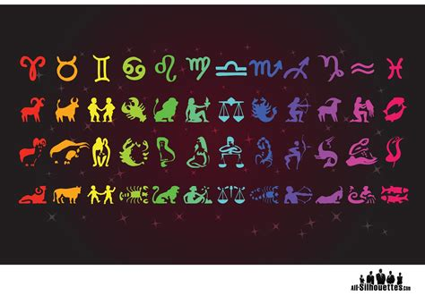 zodiac signs   vector art stock graphics
