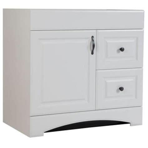 Glacier Bay Vanity Cabinets by Glacier Bay Regency 36 In Vanity Cabinet Only In White