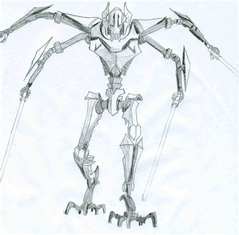 How To Draw General Grievous Short Hairstyle 2013 General Grievous Coloring Page