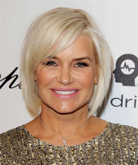 Yolanda Foster Hairstyle | yolanda h foster medium straight casual bob hairstyle with