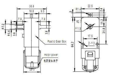Smart Car Motor Bracket Tt Gear Motor Mounting Limited 1 130 gear motor for diy robot car robotdigg