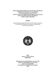 skripsi akuntansi full pdf pengaruh efikasi diri dan lingkungan sekolah terhadap