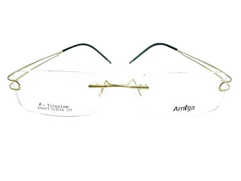 luxury mens rimless titanium glasses frames eyeglasses