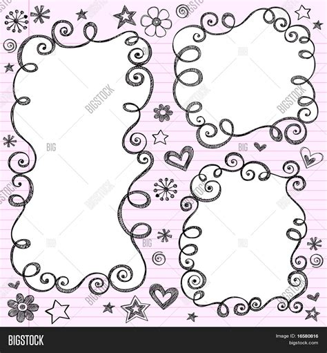 doodlebug florist byron ga vector y foto nube swirly incompleto dibujado bigstock