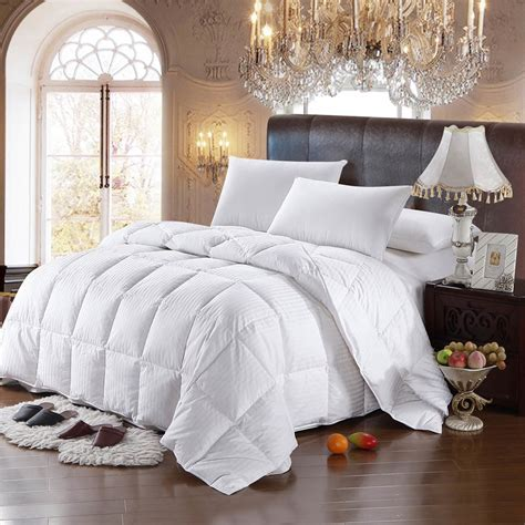 comforter fill weight 600fill power striped white goose down comforter oversized