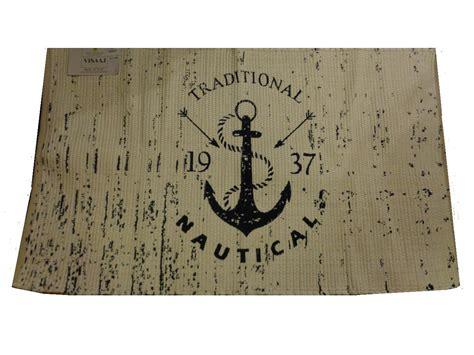 nautical area rugs handcrafted nautical anchor area rug decor
