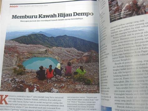 pesona kawah hijau gunung api dempo foto ruli amrullah