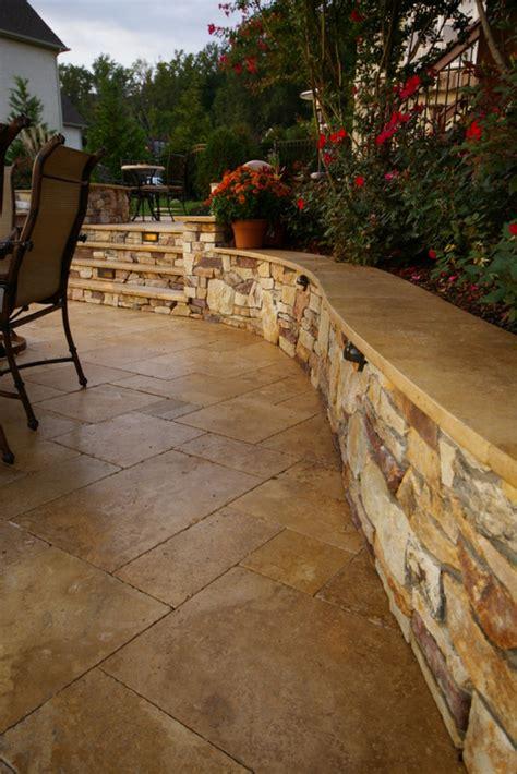 Backyard With Pool Ideas Natural Stone Patio Bluestone Travertine Dayton