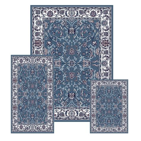 area rug and runner sets traditional medallion 3 pcs area rug bordered runner mat set ebay