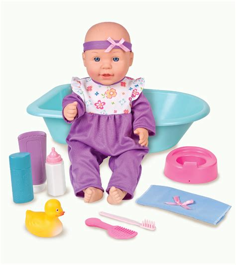 bathtub dolls just kidz 15 quot baby bath set pajamas toys games