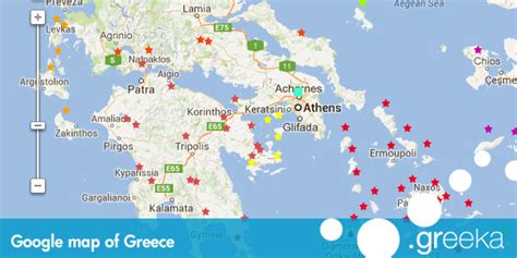 map of greece islands map of greece and the islands greece maps