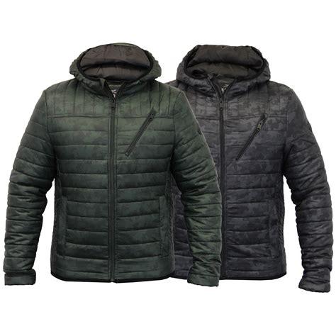 Camo Padded Jacket mens jacket threadbare coat hooded camo