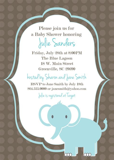 baby shower boy invitation templates free free downloadable boy baby shower invitation