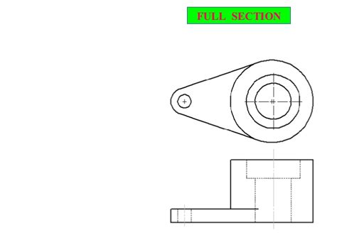 full section sectional view