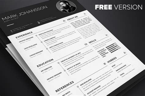 top 26 free indesign resume templates updated 2018