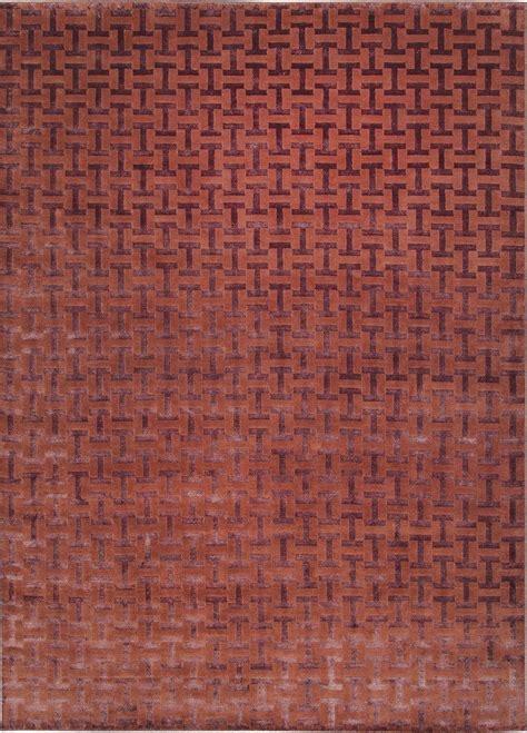 tappeto annodato a mano tappeto annodato a mano in e fibre di bamb 249 jige by
