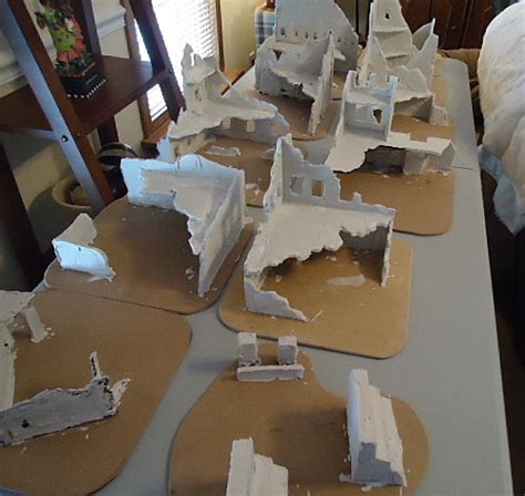 foam building templates whiskey 40k doing radical stuff with pink foam tips