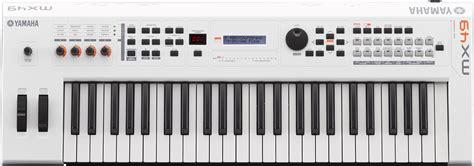 Keyboard Yamaha Mx49 yamaha mx49 version 2 synthesizer 49 key edition in white finish yamaha