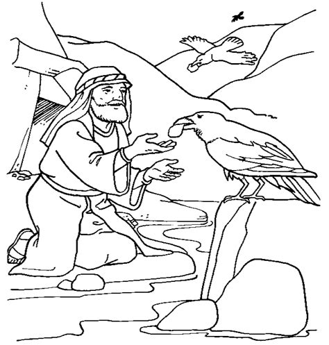free bible coloring pages elijah elijah widow coloring pages
