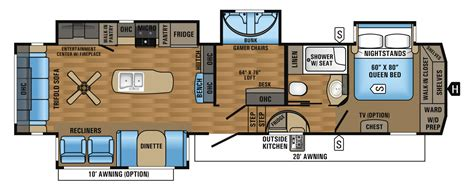 5th wheel bunkhouse floor plans 2017 eagle fifth wheel floorplans prices jayco inc