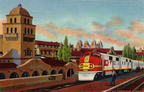 railroad station albuquerque nm postcard memory palace