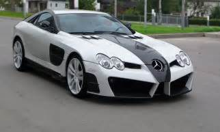 mansory slr renovatio black and white car tuning