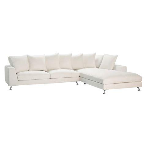 six seater corner sofa 6 seat corner sofa in ivory city city maisons du monde