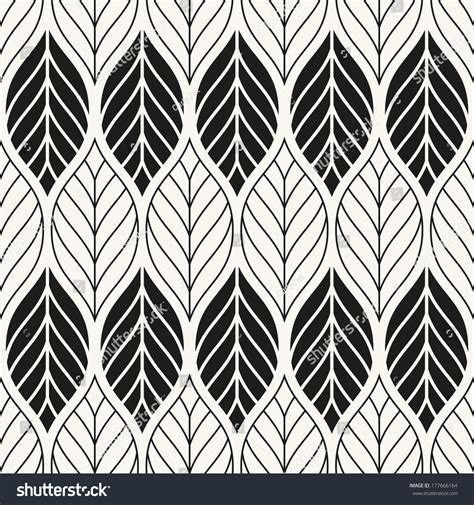 geometric pattern leaf vector seamless pattern stylish texture endless floral