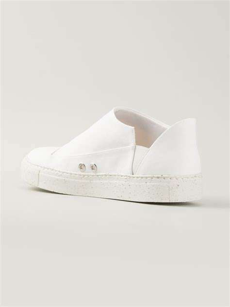 white slip on sneakers for rombaut slip on sneakers in white for lyst