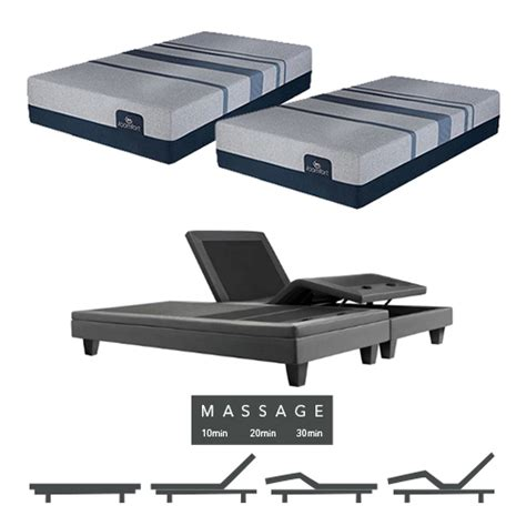 blue max 5000 luxury firm split king size mattress and adjustable base with feature
