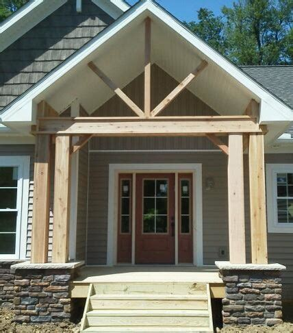 cedar porch posts traditional entry cleveland by