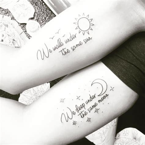 sun and moon tattoos for best friends distance friendship sun moon matching bestfriend