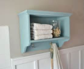 white martina bath wall storage shelf with hooks
