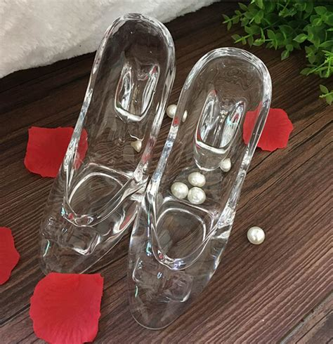 engraved glass slipper buy wholesale glass slipper ornament from china