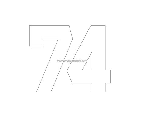 printable jersey number stencils free jersey printable 74 number stencil