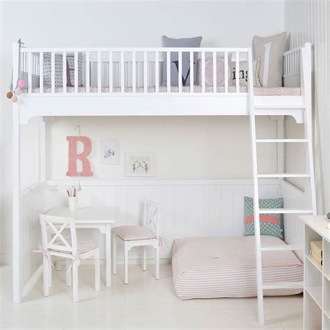 white scandinavian loft bed by nubie modern kids boutique