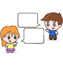 Children talking vector by meshaq2000 image 528806 vectorstock