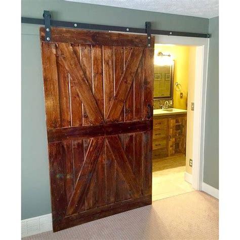 bathroom barn door hardware this beautiful x barn door makes a great bedroom to