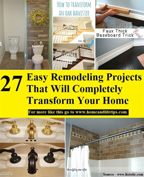 27 easy remodeling projects that will completely transform