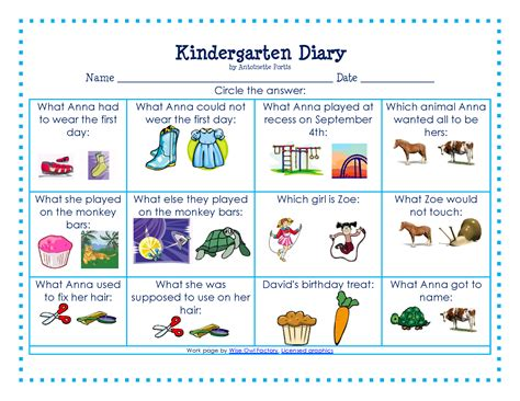 printable picture book 5 best images of printable kindergarten reading books