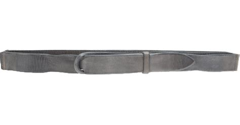 orciani grey leather belt in gray for grey lyst