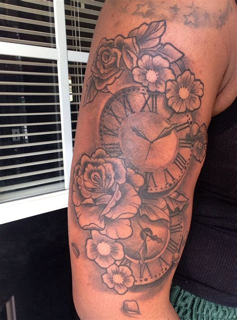 tattoos of clock showing time of my children s birth