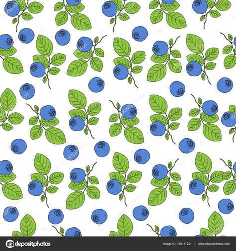 organic background pattern vector blueberry seamless vector pattern berry decorative